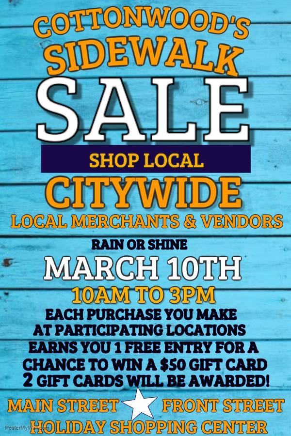 Cottonwood Sidewalk Sale